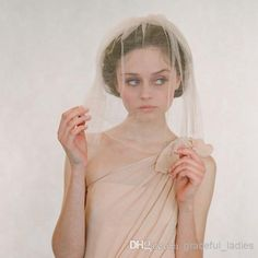 Wholesale Ivory Blusher Veil - Buy Champagne Silk Tulle Veil Birdcage Veil Bridal Blusher Veils Short Face Cover With Gold Plated Wire Or Plastic Comb Custom Made Wedding Veil, $34.54 | DHgate.com