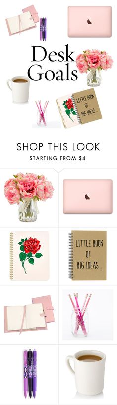 """""""Desk Goals"""" by anny24 ❤ liked on Polyvore featuring interior, interiors, interior design, home, home decor, interior decorating, ban.do, Royce Leather and Vera Bradley"""