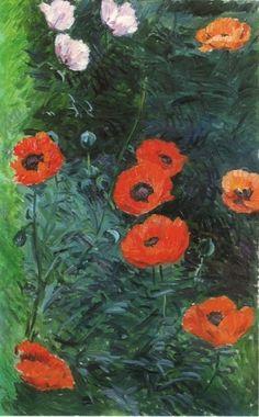 Gustave Caillebotte, Poppy Flowers, 1892 on ArtStack #gustave-caillebotte #art