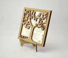 Ideas Para, Wedding Invitations, Wedding Ideas, Diy, Design, Fashion, 15 Years, Vestidos, Wood Invitation