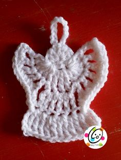 """Our """"Countdown to Christmas Calendar"""" wouldn't be complete without angels. The first is made from a pattern by Kim Guzman. It is so quick and easy to make.  MATERIALS Yarn:Ww inwhite or co..."""