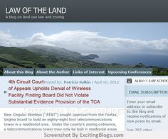 LAW OF THE LAND - Click to visit blog:  http://1.33x.us/ItN7r6