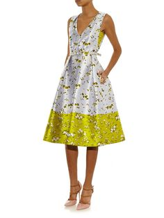 Erdem Kuni V-neck floral-jacquard dress