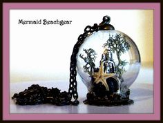 Mermaid Terrarium Necklace by MermaidBeachgear on Etsy