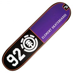 Board Element Team 92 Highlight black purple orange 8 pouces 75€ #element…