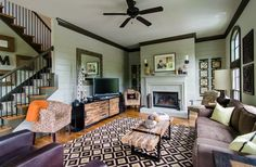 Media Console and Coffee Table Living Rooms transitional-living-room