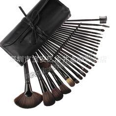 Type:Featured Brush Set Quantity:24 Brush Hair:Artificial fibre Handle Color:Black & Brown & Pink Usage:Makeup