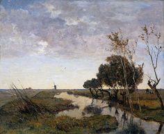 Paul Joseph Constantin Gabriel - A Watercourse at Abcoude [1878]