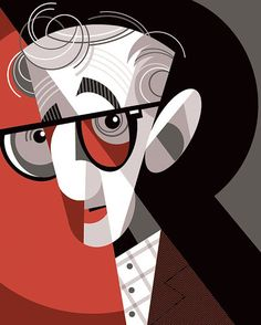 Woody Allen, Portrait Illustration, Character Illustration, Pablo Picasso, The New Yorker, American Illustration, Drawing Exercises, Celebrity Caricatures, Communication Art