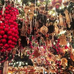 Things to do in NYC at Christmas!!! (Rolf's Christmas Bar)