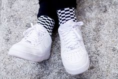 Chess socks (black & white) by Lemonade Attack on Jeffrey Herrero's blog