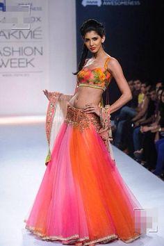 Anushree Reddy .. Multicoloured  lehnga choli..!!