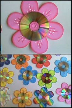 Diy Crafts For Kids Easy, Spring Crafts For Kids, Crafts To Make And Sell, Summer Crafts, Art For Kids, Cd Crafts, Daycare Crafts, Flower Crafts, Preschool Crafts