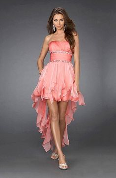 Modest A-line Backless Mini Sleeveless Strapless Prom Dress