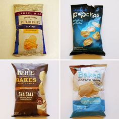 Potato chips aren't the healthiest snack, but every once in a while, they're a perfect treat. When choosing a potato chip, it's important to consider the Healthy Chips, Healthy Snacks, Healthy Eating, Healthy Recipes, Super Bowl 2015, Healthy Potatoes, Eating At Night, I Cool, Potato Chips