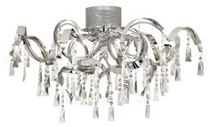 Chrome Curl Ribbon Modern Possini Euro Ceiling Light - #EU52314 - Euro Style Lighting
