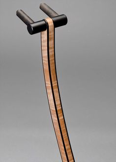 WM Guitar Stand in Curly Maple with Ebony Binding Guitar Hanger, Guitar Hooks, Wooden Guitar Stand, Guitar Storage, Music Stand, Stand Design, Acoustic Guitar, Woodworking Plans, Decoration