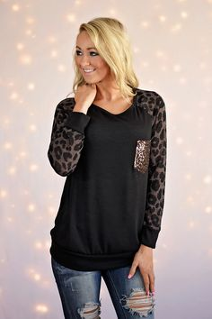 Leopard Bling Top ~ Coffee – The Pulse Boutique