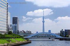 東京スカイツリー 隅田川  永代橋 水上バス