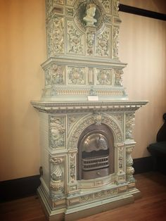 Fireplace! The detailing of it is gorgeous.