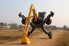 """""""Iron Spider"""" walking excavator."""