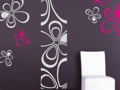 Wallvinil, Samolepky na zeď Floral triangles SADA, arch květů 60x100cm
