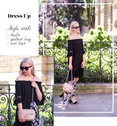 off shoulders dress boho outfit #streetstyle #dress #offshoulders #heels #alexandermcqueen #scarf #celine #publicdesire #outfit