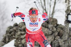 Therese Johaug in the Nordic Ski World Championships in Falun 2015.