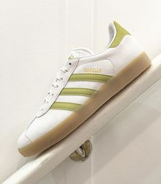 Adidas Gazelle Green White His trainers Office