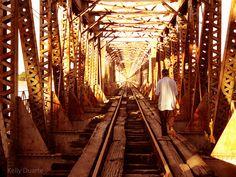 Pescador na ponte Buritizeiro-Pirapora