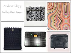 Arieles Friday 5 Tablet iPad Cases     DIANE VON FURSTENBERG iPad case     PAUL SMITH multicolour tablet cover     PROENZA SCHOULER PS1 iPad case     TRINA TURK iPad sleeve     TORY BURCH kelsey e-tablet sleeve