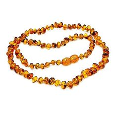 Healing Natural Baltic Amber Beaded Necklace 18 by TheSilverPlaza