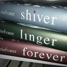 Shiver series | good series if you like books about werewolves.  I cant help but love YA books.  Mindless entertainment. (for Gavin?)