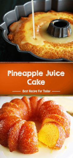 Pineapple Juice Cake --- made with a cake mix Cake Mix Recipes, Baking Recipes, Dessert Recipes, Punch Recipes, Easter Recipes, Just Desserts, Delicious Desserts, Yummy Food, Tasty