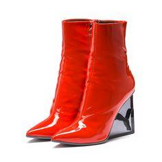 7e166b388961 FENTY Cat Wedge Patent Boot Puma Boots
