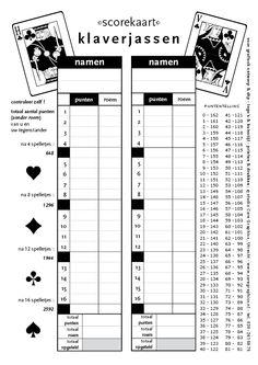 scorekaart klaverjassen - pdf is te downloaden op caregraphics blog