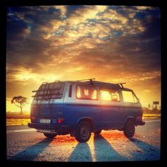 #vw #t3 #camper #HDR on the #road at #sunset by 1gr3 http://instagr.am/p/Ru7R_xDZvp/