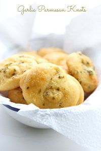 Low Carb Grain-Free Garlic Parmesan Knots