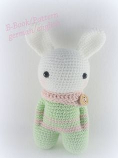 Crochet Pattern Amigurumi Bunny Sock Doll van AllaboutBunny op Etsy