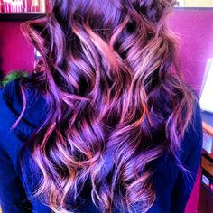 My Violet Mahogany Hair Hair Inspiration Pinterest