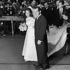 President Elect Nixon accompanies Julie to her wedding.
