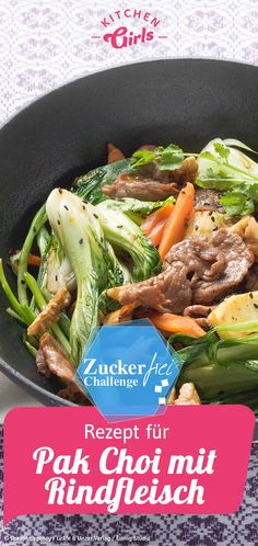 Recipe for Pak Choi with Beef - Sugar Free Asian .- Recipe for Pak Choi with beef – Asian sugar-free cooking - Asian Recipes, Beef Recipes, Snack Recipes, Cooking Recipes, Ethnic Recipes, Cooking Beef, Healthy Eating Tips, Good Healthy Recipes, Healthy Nutrition