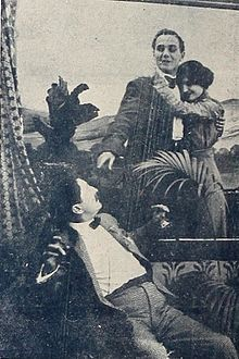 Still from the 1911 silent film The Westerner and the Earl. The film is lost.