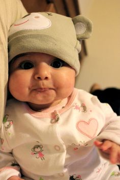 My kids will have chubby cheeks like this... :)