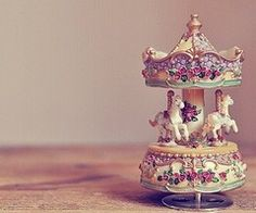 vintage carousel music box centerpiece