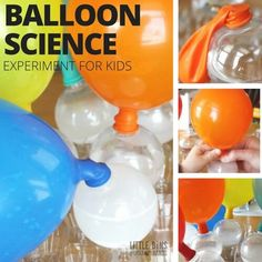Set up a balloon baking soda and vinegar science experiment for kids. Blow up balloons with a chemical reaction between baking soda and vinegar. Fun science