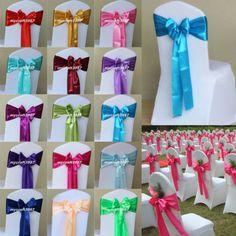 New-Wedding-Party-Banquet-Decorations-Satin-Sash-Chair-Bowknot-Wedding-Supplies