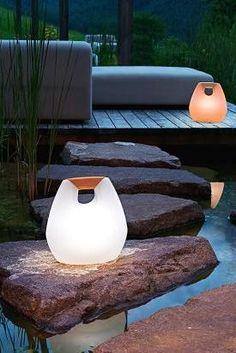 Kabellose LED- und Solarleuchten für die Terrasse #terrassenideen #garten #sommer #terrassegestalten #gartendeko #gartenmöbel