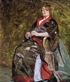 """""""Lili Grenier in a Kimono"""" - Henri de Toulouse-Lautrec"""