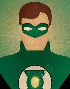 Minimal Heroes Green Lantern by Jeff Janelle Art Design on Etsy